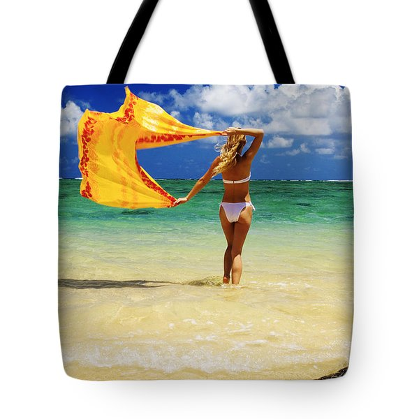 Punaluu Beach Vacation Tote Bag by Tomas del Amo - Printscapes