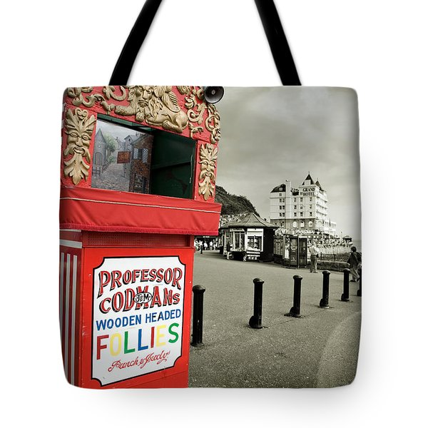 Punch And Judy Theatre On Llandudno Promenade Tote Bag by Mal Bray