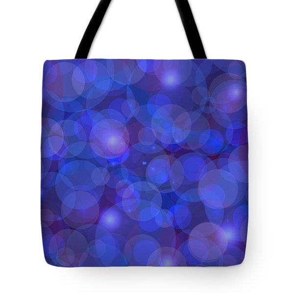 Purple And Blue Abstract Tote Bag by Frank Tschakert