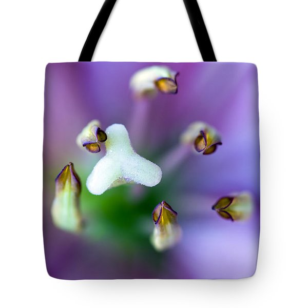 Purple Botanical Tote Bag by Frank Tschakert