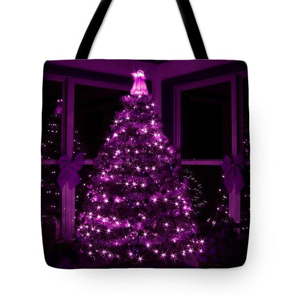 Purple Christmas Tote Bag by Lori Deiter