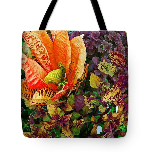 Purple Flowers Tote Bag by Michael Thomas