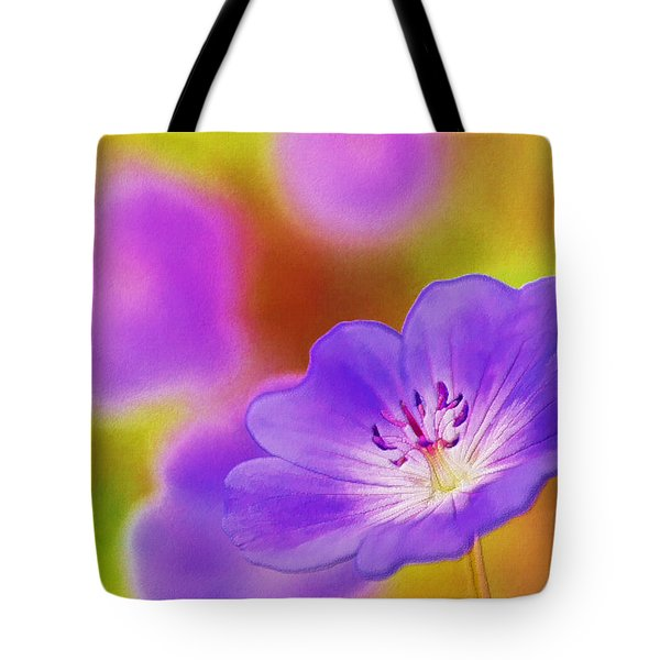 Purple Geranium Tote Bag by Lanjee Chee