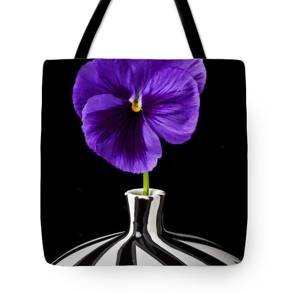 Purple Pansy Tote Bag by Garry Gay