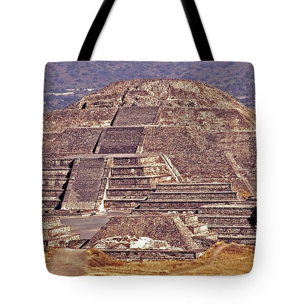 Pyramid Of The Sun - Teotihuacan Tote Bag by Juergen Weiss