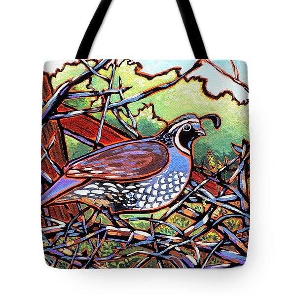 Quail Tote Bag by Nadi Spencer