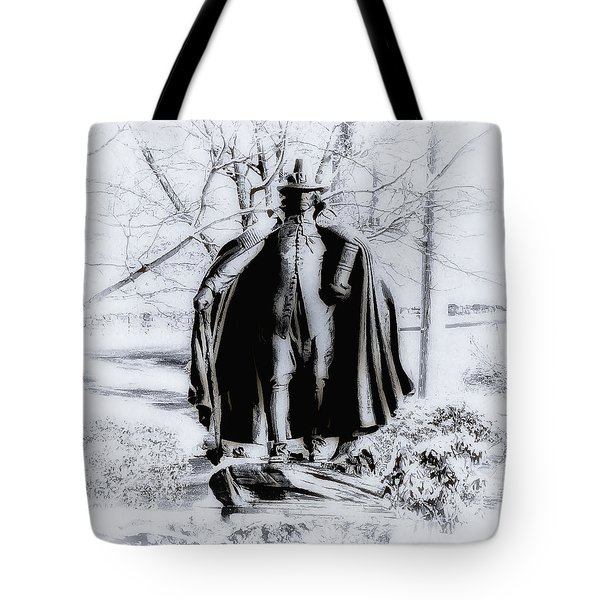Quaker Pilgrim Tote Bag by Bill Cannon