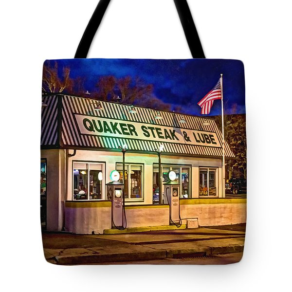 Quaker Steak And Lube Tote Bag by Skip Tribby