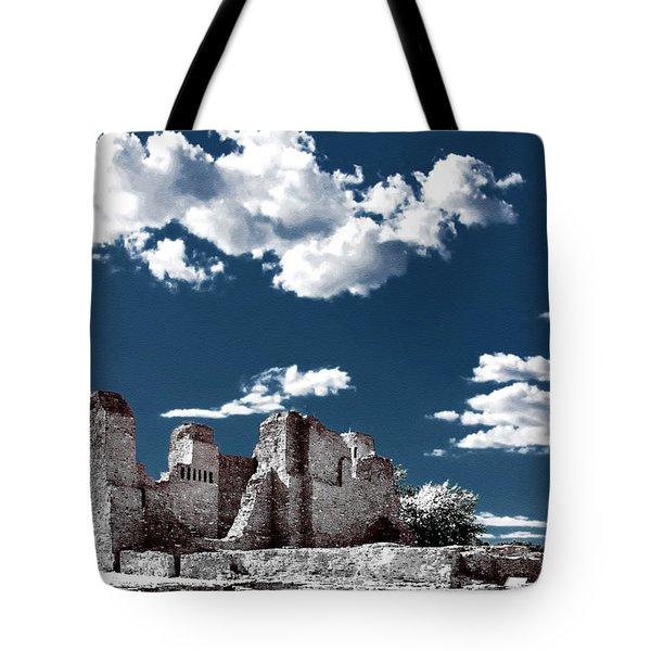 Quarai New Mexico - Infrared False Color Tote Bag by Christine Till