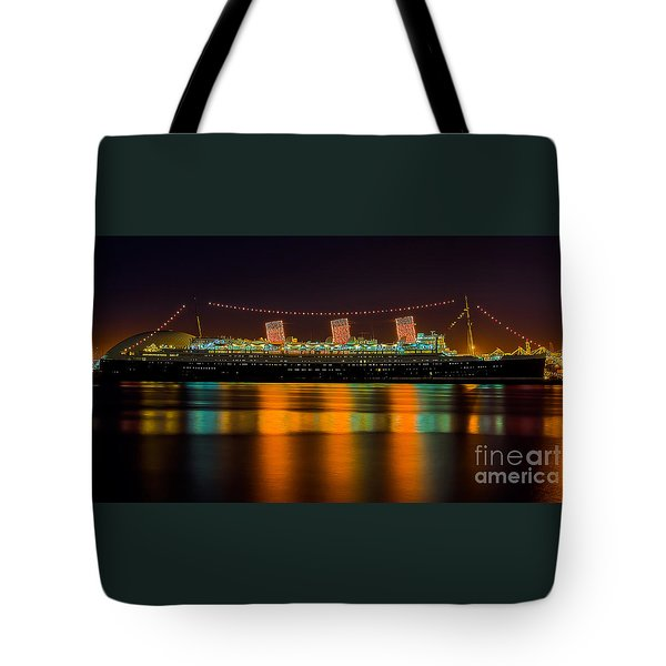 Queen Mary - Nightside Tote Bag by Jim Carrell