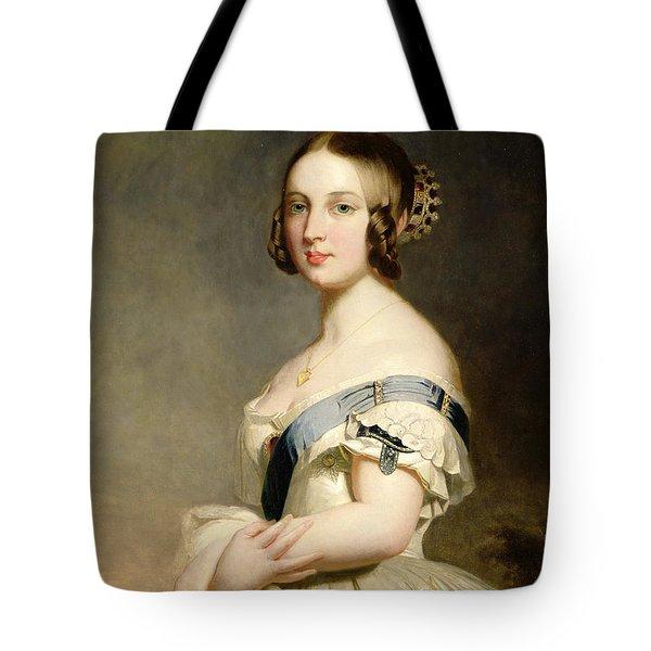 Queen Victoria Tote Bag by Franz Xavier Winterhalter