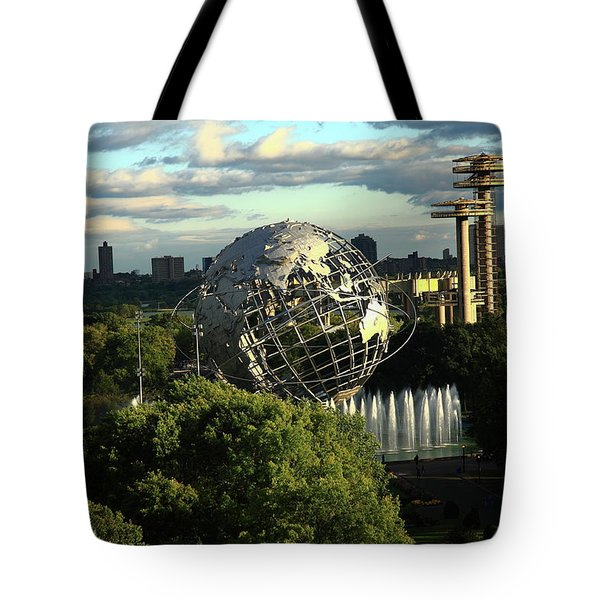 Queens New York City - Unisphere Tote Bag by Frank Romeo