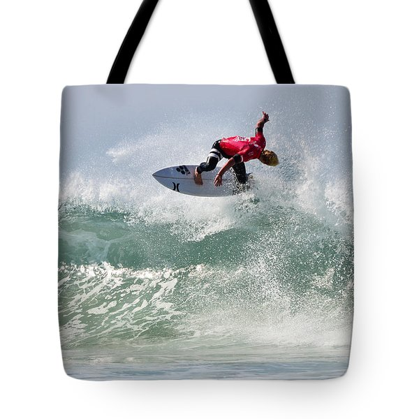 Tote Bag featuring the photograph Quiksilver Pro France Iv by Thierry Bouriat