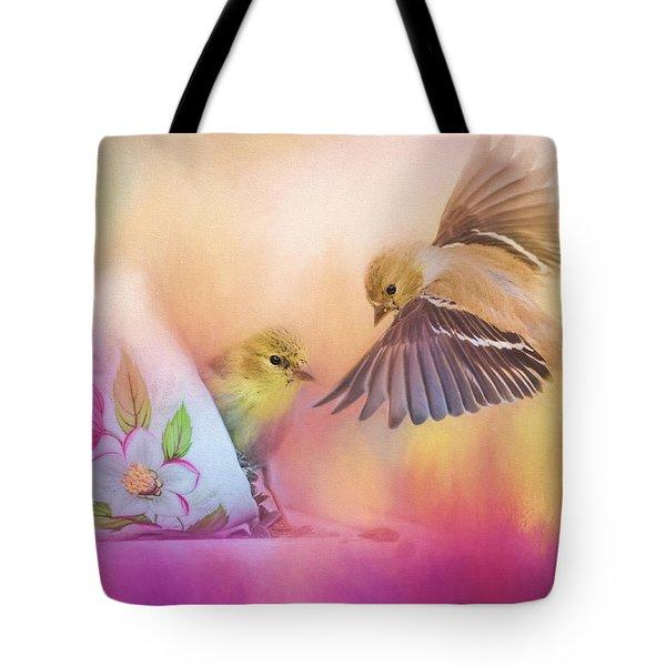 Raiding The Teacup - Songbird Art Tote Bag by Jai Johnson