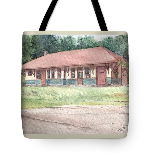 Railroad Depot Tote Bag by Katherine  Berlin