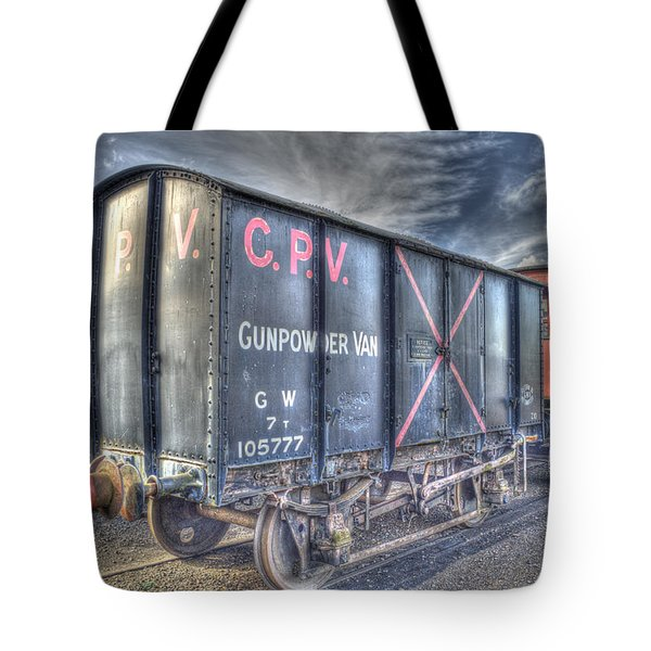 Railway Gunpowder Wagon Tote Bag by Chris Thaxter