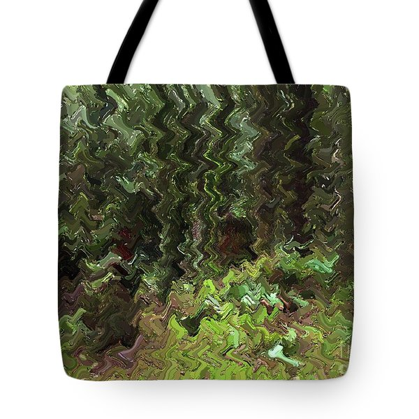 Rain Forest Abstract Tote Bag by Sharon  Talson