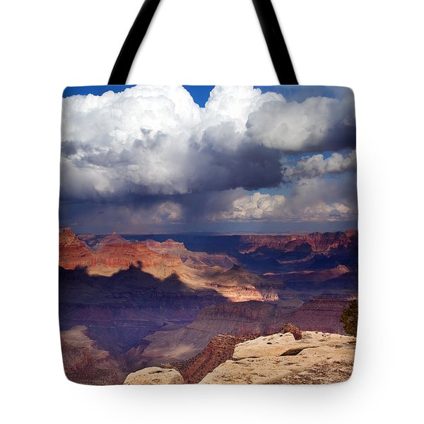 Rain over the Grand Canyon Tote Bag by Mike  Dawson
