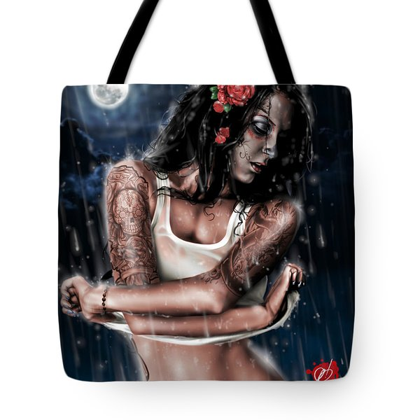 Rain When I Die Tote Bag by Pete Tapang