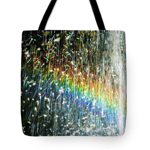 Rainbow Fountain Tote Bag by Francesa Miller