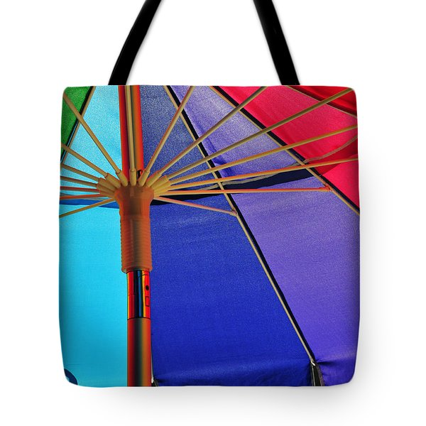 Rainbow Gathering Tote Bag by Skip Hunt