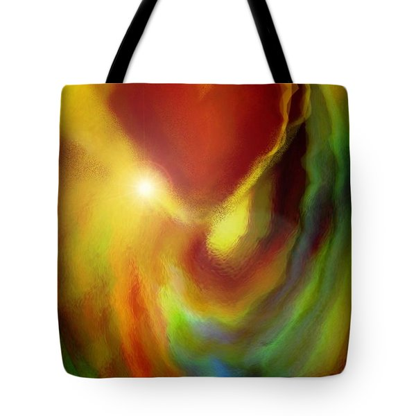 Rainbow Of Love Tote Bag by Linda Sannuti