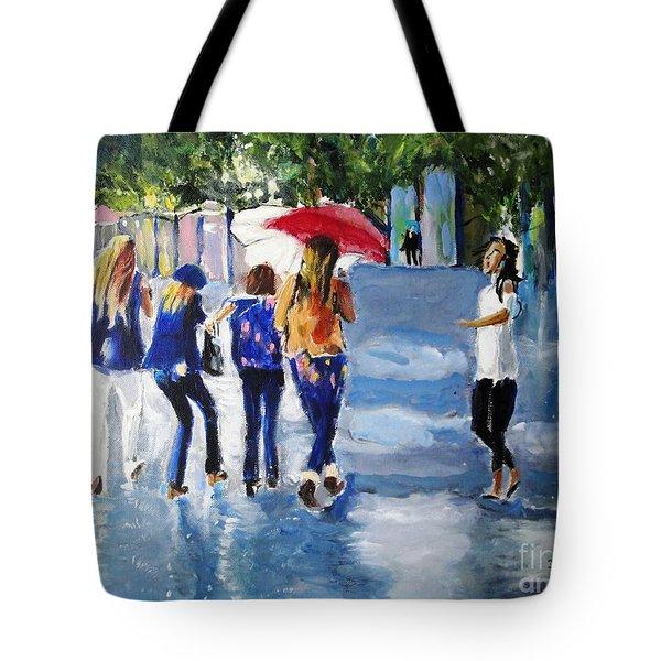 Rainy Days And Mondays Tote Bag by Judy Kay