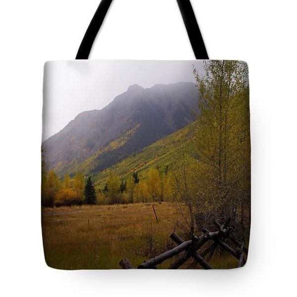 Rainy Fall Tote Bag by Marty Koch