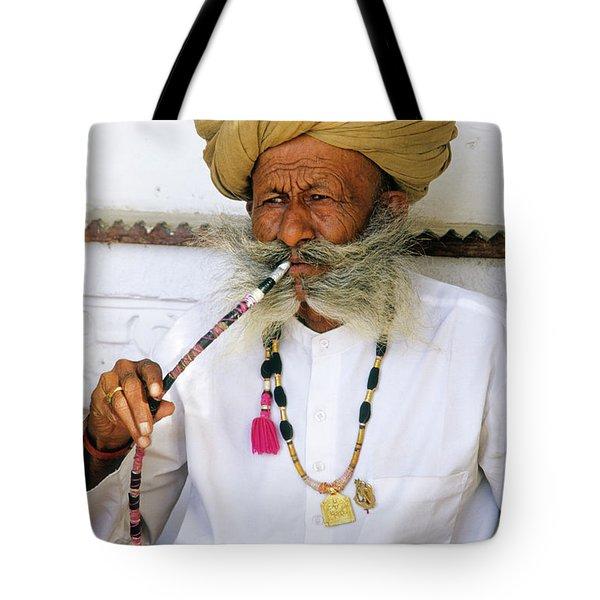 Rajasthani Elder Tote Bag by Michele Burgess