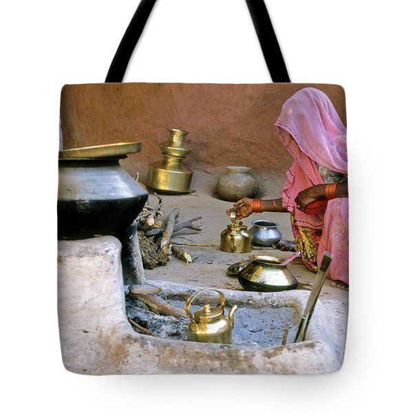 Rajasthani Woman Tote Bag by Michele Burgess