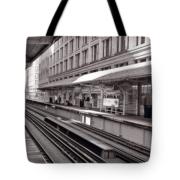 Randolph Street Station Chicago Tote Bag by Steve Gadomski