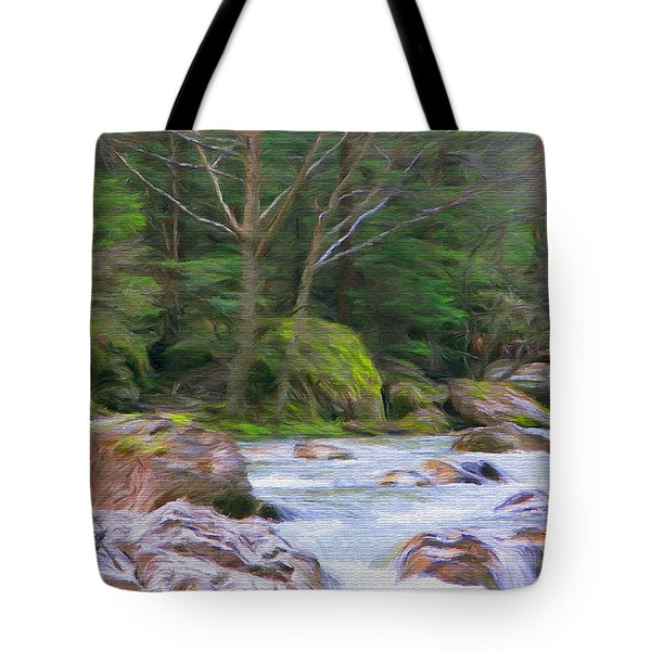 Rapids At The Rivers Bend Tote Bag by Jeff Kolker