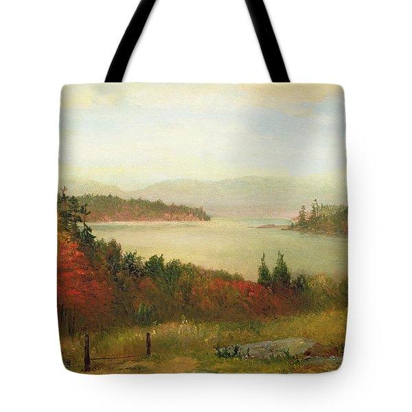Raquette Lake Tote Bag by Homer Dodge Martin