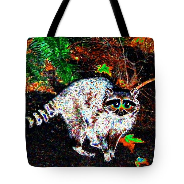 Rascally Raccoon Tote Bag by Will Borden