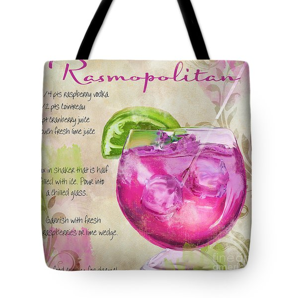 Rasmopolitan Mixed Cocktail Recipe Sign Tote Bag by Mindy Sommers