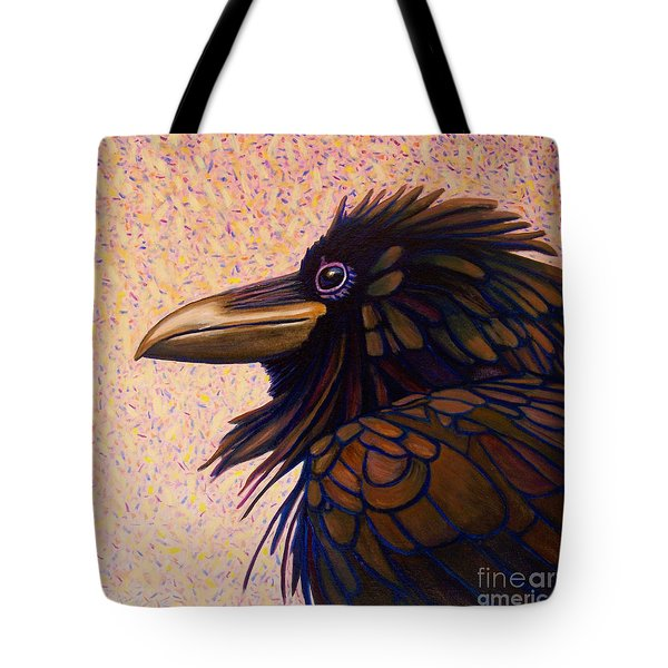 Raven Shaman Tote Bag by Brian  Commerford