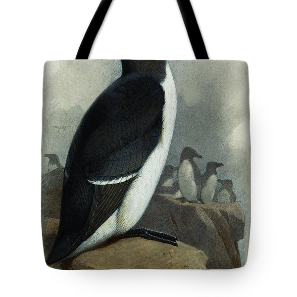 Razorbill Tote Bag by Archibald Thorburn