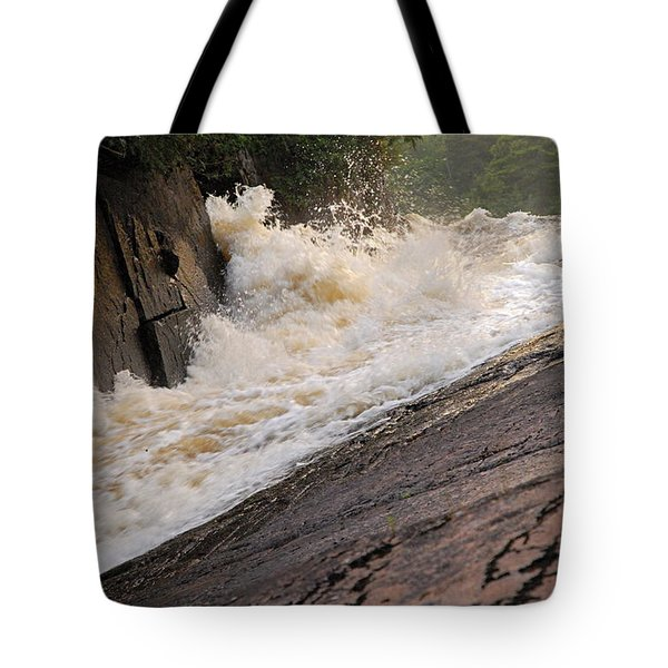 Rebecca Falls At Sunset Tote Bag by Larry Ricker