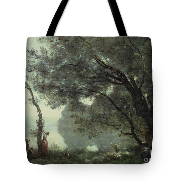 Recollections Of Mortefontaine Tote Bag by Jean Baptiste Corot