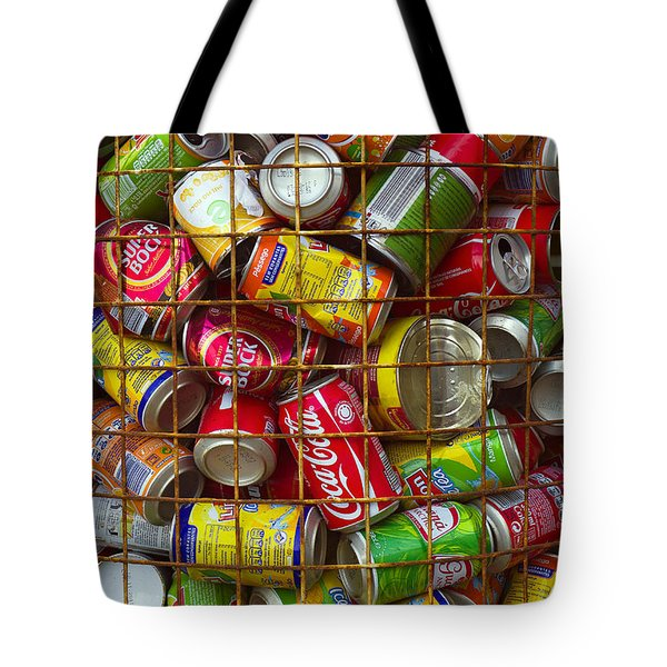 Recycling cans Tote Bag by Carlos Caetano