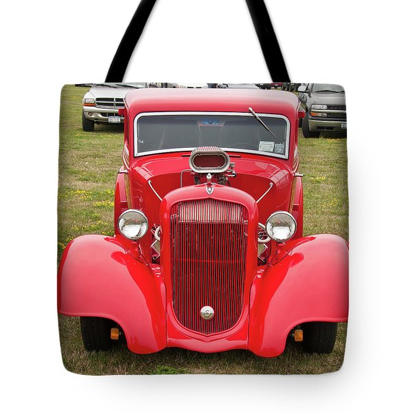 Red 1990 Tote Bag by Guy Whiteley