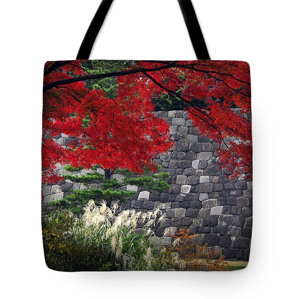 Red Autumn Tote Bag by Eena Bo