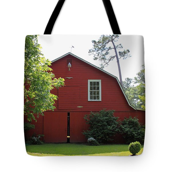 Red Barn Tote Bag by Suzanne Gaff