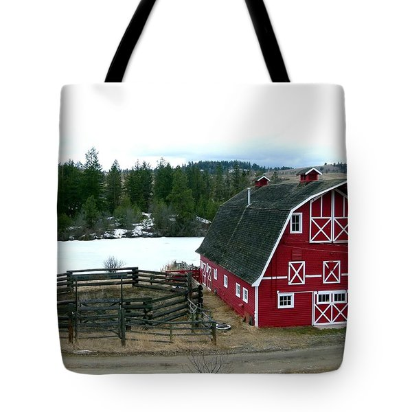 Red Barn Tote Bag by Will Borden