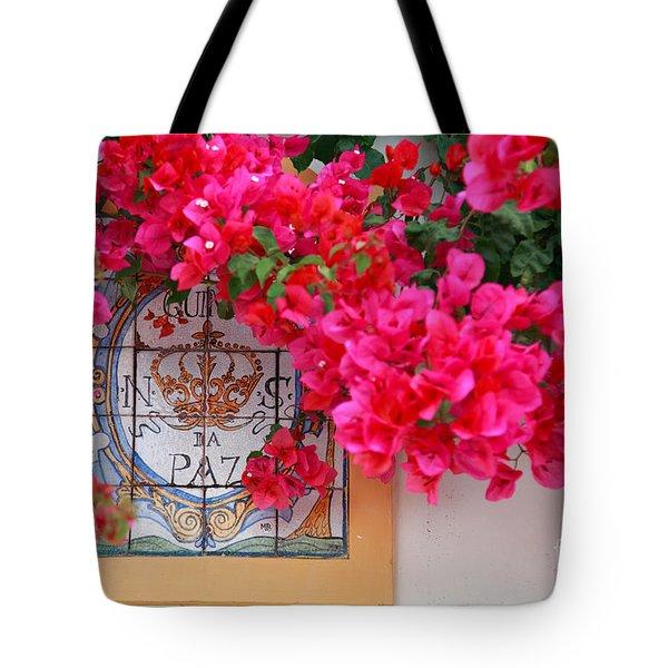 Red bougainvilleas Tote Bag by Gaspar Avila