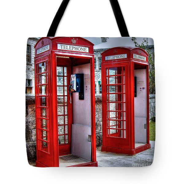 Red Box Tote Bag by Debbi Granruth