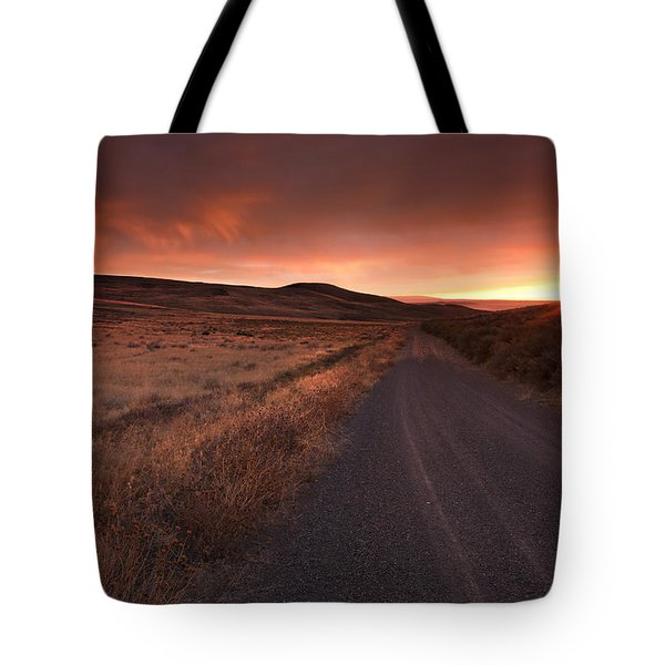 Red Dawn Tote Bag by Mike  Dawson