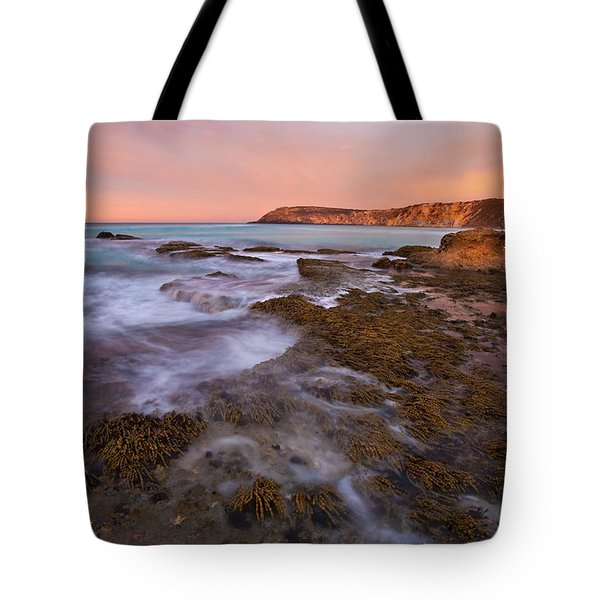 Red Dawning Tote Bag by Mike  Dawson