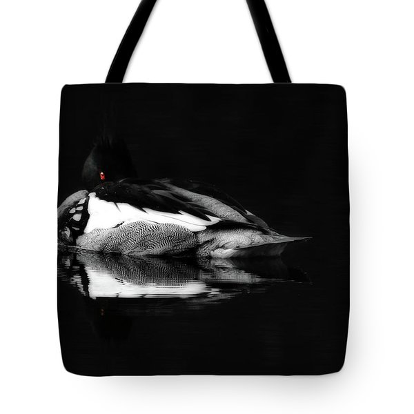 Red Eye Tote Bag by Lori Deiter