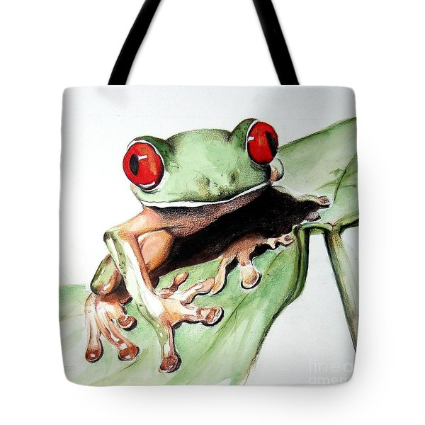 Red Eyes Tote Bag by Ilaria Andreucci